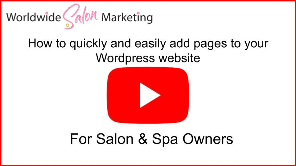 How to update your salon website