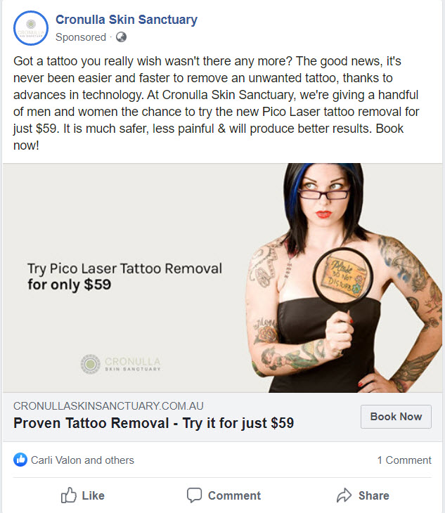 Case Study: Tattoo Removal Facebook & Google Ad Campaign